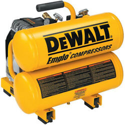 DEWALT 1.1 HP 4 Gal. Oil-Lube Hand Carry Air Compressor D55151R Reconditioned $169.99