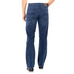 Blue Urban Star Men Relaxed Straight Fit Jean Navy Blue Pant Man Size $23.73