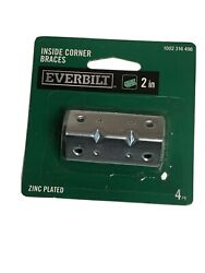 Everbilt 2 in Zinc Plated Inside Corner Braces