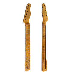 21 Frets CA Tiger Flame Maple Guitar Neck for Tele TL Electric Guitar 55.6mm $92.11