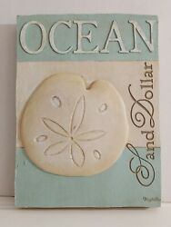 Ocean Sand Dollar Wall Plaque by New View Beach Shells Shore Coastal NEW in box $10.00