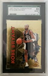 KOBE BRYANT 1996 Pacific Power Gold Foil #PP 6 Rookie Card Graded 88 SGC 8 NM MT $189.99