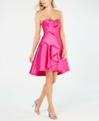 $189 New Adrianna Papell Strapless High Low Prom Party Women#x27;s Dress Size 14 NWT $69.00