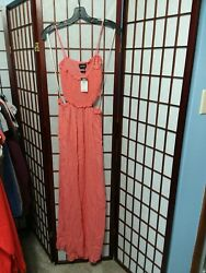 Women#x27;s Long Summer Dress pink size large $10.95