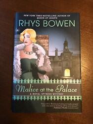 Rhys Bowen Malice at the Palace Hardcover Book #9 in A Royal Spyness Mystery