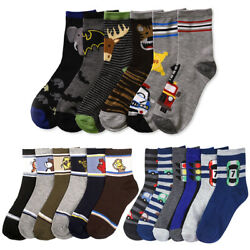 12 Pairs Assorted Boys Socks Size Ages 6 8 Years Kids Casual Sport Wholesale Lot $13.99