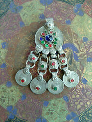 Tribal Pendant Coin Dangles DIY Vintage Jewelry Supplies #6064 $12.99