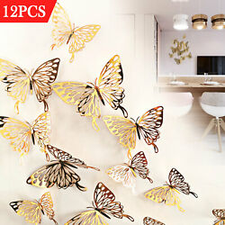 12pcs 3D Butterfly Wall Stickers Art Decals Home Room Decorations Decor US $8.78