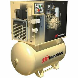 IR Rotary Screw Compressor wTotal Air System- 200V 3-Phase 10 HP 38 CFM