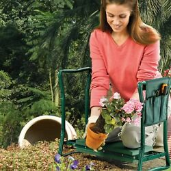 Folding Garden Kneeler Seat Bench Kneeling Soft Eva Pad Seat With 3 Stool Pouch $32.99