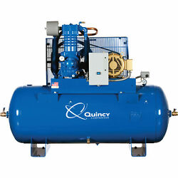 Quincy 10HP 120Gal. QP MAX Pressure-Lube Reciprocating Compressor 200V 3 Phase-H