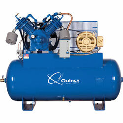 Quincy 15HP 120Gal. QP MAX Pressure-Lube Reciprocating Compressor 200V 3 Phase-H