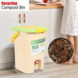 21L Kitchen Food Waste Bokashi Bucket Recycle Composter Aerated Compost Bin NEW $63.69