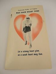 Vintage Former Boxing Champion MAX BAER Heart Fund F.O.E. Ball Point PEN on Card $20.24