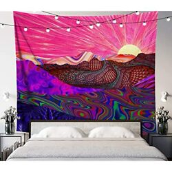 Trippy Trek Tapestry Premium Psychedelic Wall Sun Hanging Beautiful Rolling X $25.58