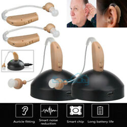 2020 NEW Rechargeable Digital Hearing Aids Mini In Ear Adjustable Tone Amplifier $32.99