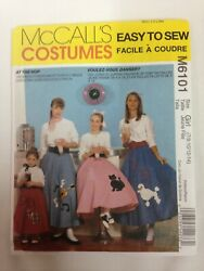 MCCALL#x27;S PATTERN 6101 POODLE SKIRTS COSTUMES GIRLS SIZES 7 8 10 12 14 UN CUT $9.99