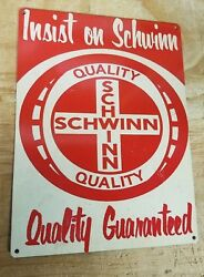 Schwinn bikes vintage quality guaranteed advertisement reproduction steel sign $19.99