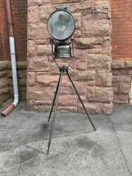 British Army Tilley Lantern Light Lamp On Tripod Antique Old Standing Fixture $800.00
