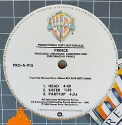 PRINCE MAXI 12quot; HEAD SISTER PARTYUP USA PROMO TEST PRESSING $39.99
