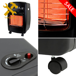 Portable Heater Steel Propane Cabinet Gas Durable Locking Casters Black Indoor $138.99