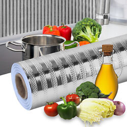 Self Adhesive Aluminum Foil Kitchen Cabinet Wall Sticker Waterproof Oil-proof US