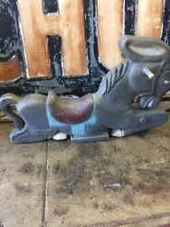 Saddle Mates Old Aluminum Playground Ride On Donkey  $899.00