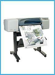 HP 500 24 PRINTER PLOTTER WIDEIMAGESOLUTIONS WITH SUPPLIES + 2 ROLLS OF PAPER $399.00