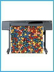 HP 800 24 PRINTER PLOTTER WIDEIMAGESOLUTIONS WITH SUPPLIES + 2 ROLLS OF PAPER $399.00
