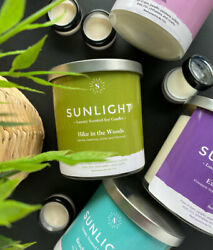 Sunlight Candles - Soy Jar Candle  Highly Scented & Long Lasting  Sample - 8oz $19.95
