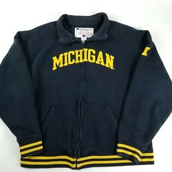 Vintage Champion Sportswear University of Michigan College Fleece Zip Up GUC $25.02