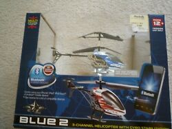 PROPEL RC SKY BLUETOOTH 3 CHANNEL WIRELESS INDOOR HELICOPTER BLUE WHITE $23.95