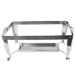 Thunder Group Stainless steel foldable frame and fuel plate Set for Chafing dish $44.24