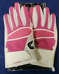 Cutters Football Gloves 017 Original Receiver White Pink Size Small $24.95