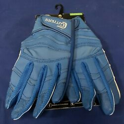 Cutters Football Gloves C Tack X40 Revolution Solid Royal Size Medium $24.95