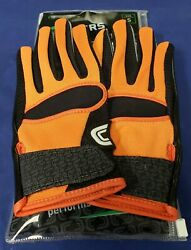 Cutters Football Gloves 017 Original Receiver Jersey Black Orange Size Small $24.95