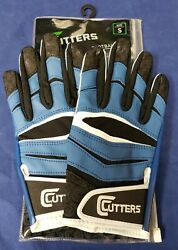 Cutters Football Gloves C Tack X40 Revolution Royal Size Small $24.95