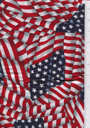 cranston ~ WAVING AMERICAN FLAG ~ fabric printed in USA  30