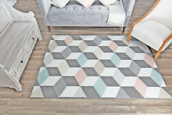 Area Rugs Mika Geometric Abstract Modern Contemporary Floor Carpet $219.50