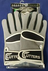 Cutters Football Gloves 017 Original Receiver Grey Size Small $24.95