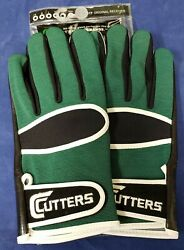 Cutters Football Gloves 017 Original Receiver Green Black Size XX Large $24.95
