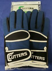 Cutters Football Gloves 017 Original Receiver Black Navy Size Small $24.95