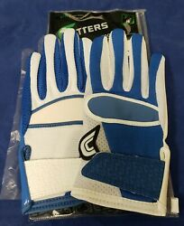 Cutters Football Gloves 017YY Yin Yang Jersey Royal White Size Small $24.95