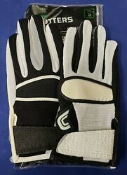 Cutters Football Gloves 017YY Yin Yang Jersey Black White Size Small $24.95