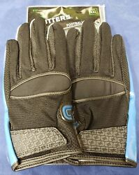 Cutters Football Gloves 017 Original Receiver FLIP Black Royal Size XX Large $24.95