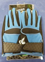 Cutters Football Gloves 017 Original Receiver Jersey Black Royal Size Small $24.95