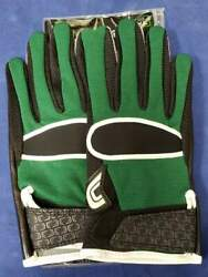 Cutters Football Gloves 017 Original Receiver Jersey Black Green Size X Large $24.95