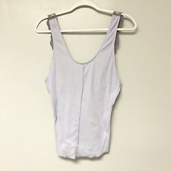 NWT Free People Women's Periwinkle Flipside Cami Lace Back Tank Size Medium