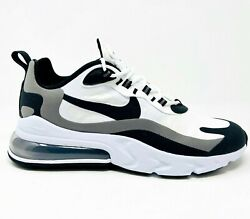 Nike Air Max 270 React White Black Metallic Pewter Gray Mens CT1264 101