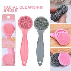 Cleaning Pores Exfoliator Facial Cleansing Silicone Massager Face Clean Brush $3.56